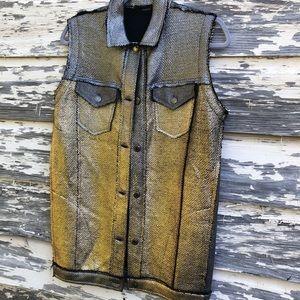Avant Toi woven metallic vest